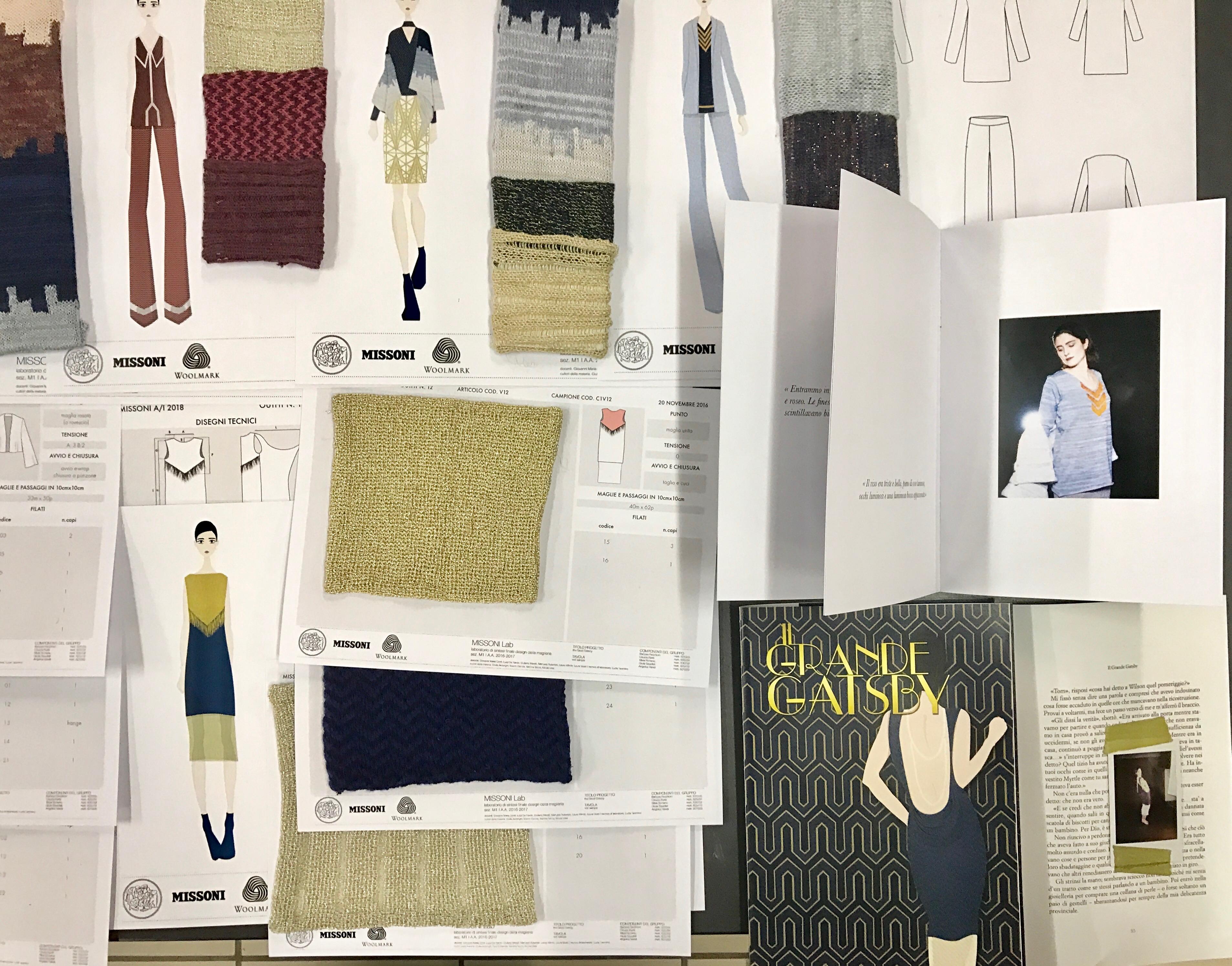 Missoni project for Politecnico di milano design della moda